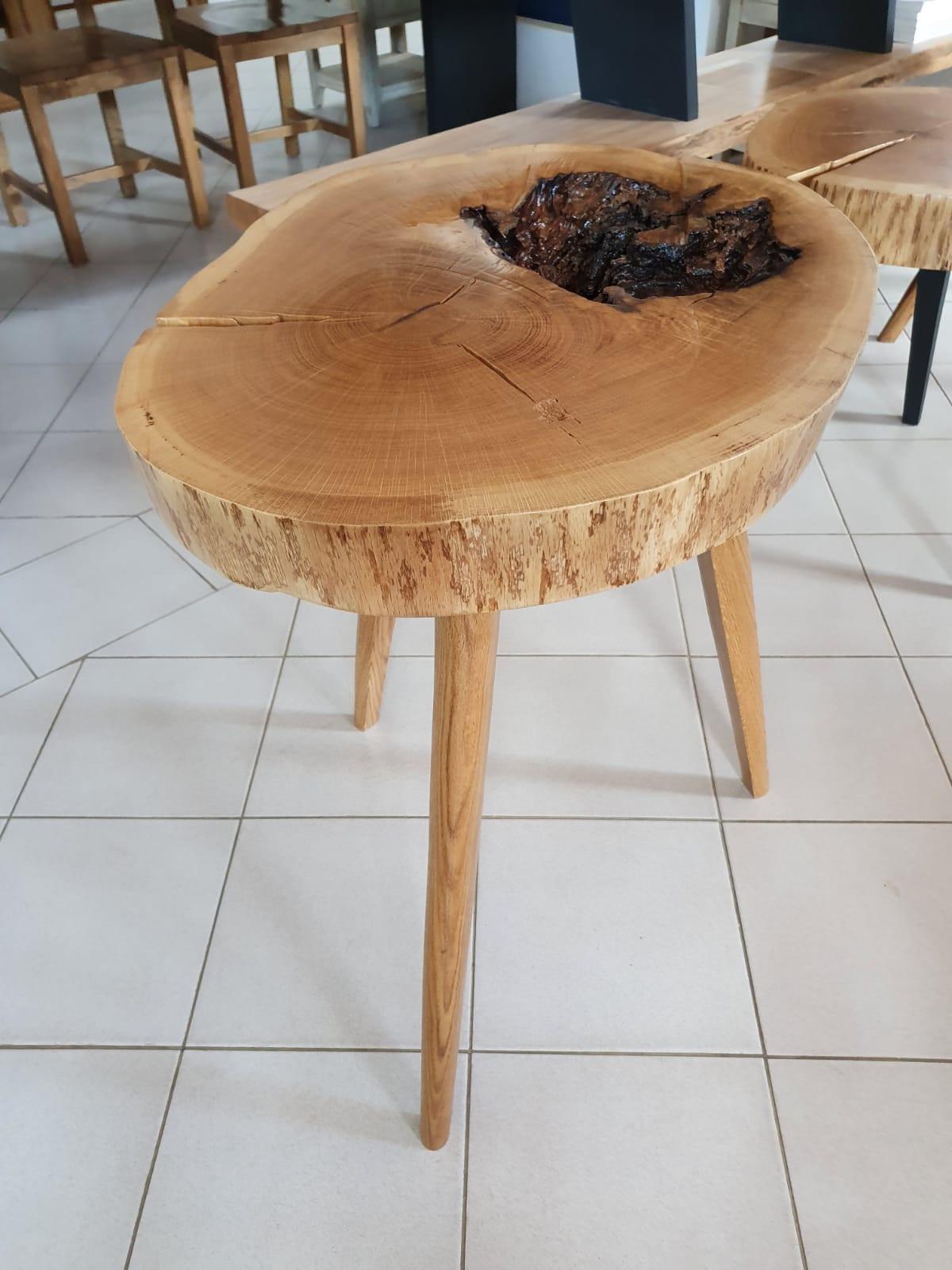 Masă cafea RONDO din lemn masiv stejar