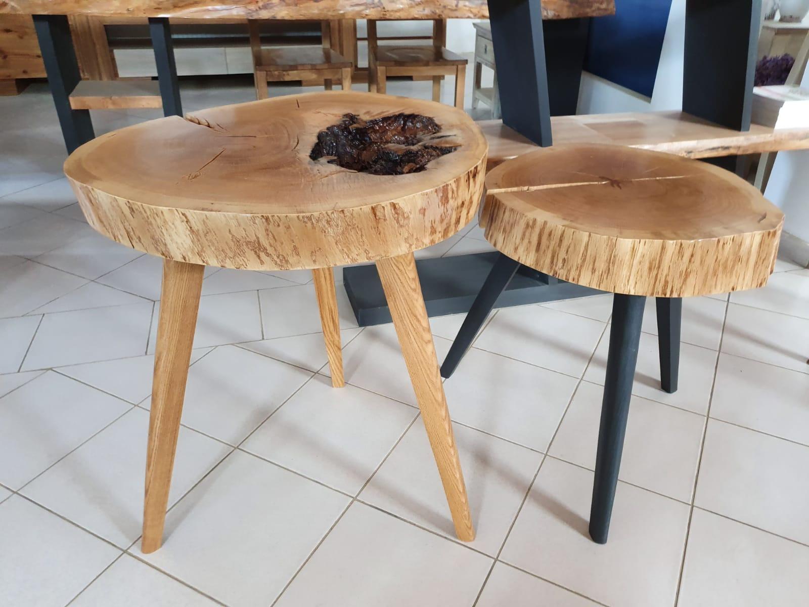 Măsuţe cafea RONDO din lemn masiv stejar