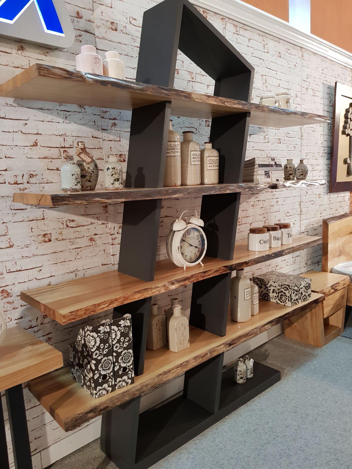 mobilier in stil industrial cu lemn stejar masiv colectia modern. Black Bedroom Furniture Sets. Home Design Ideas