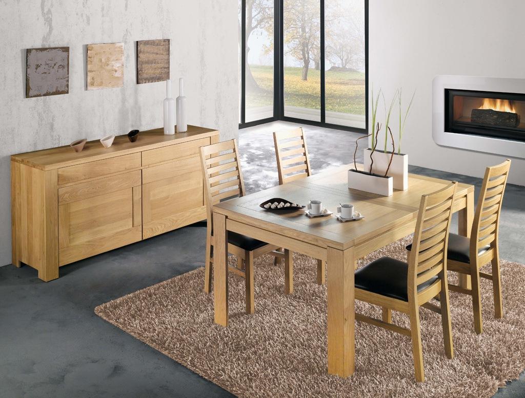 Mobila living dining lemn masiv stejar oslo colectia modern for Meuble de sejour moderne