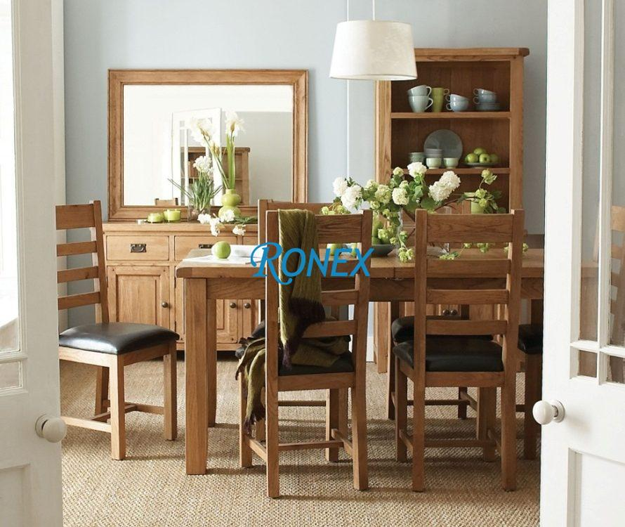 Masa Dining si scaune lemn masiv