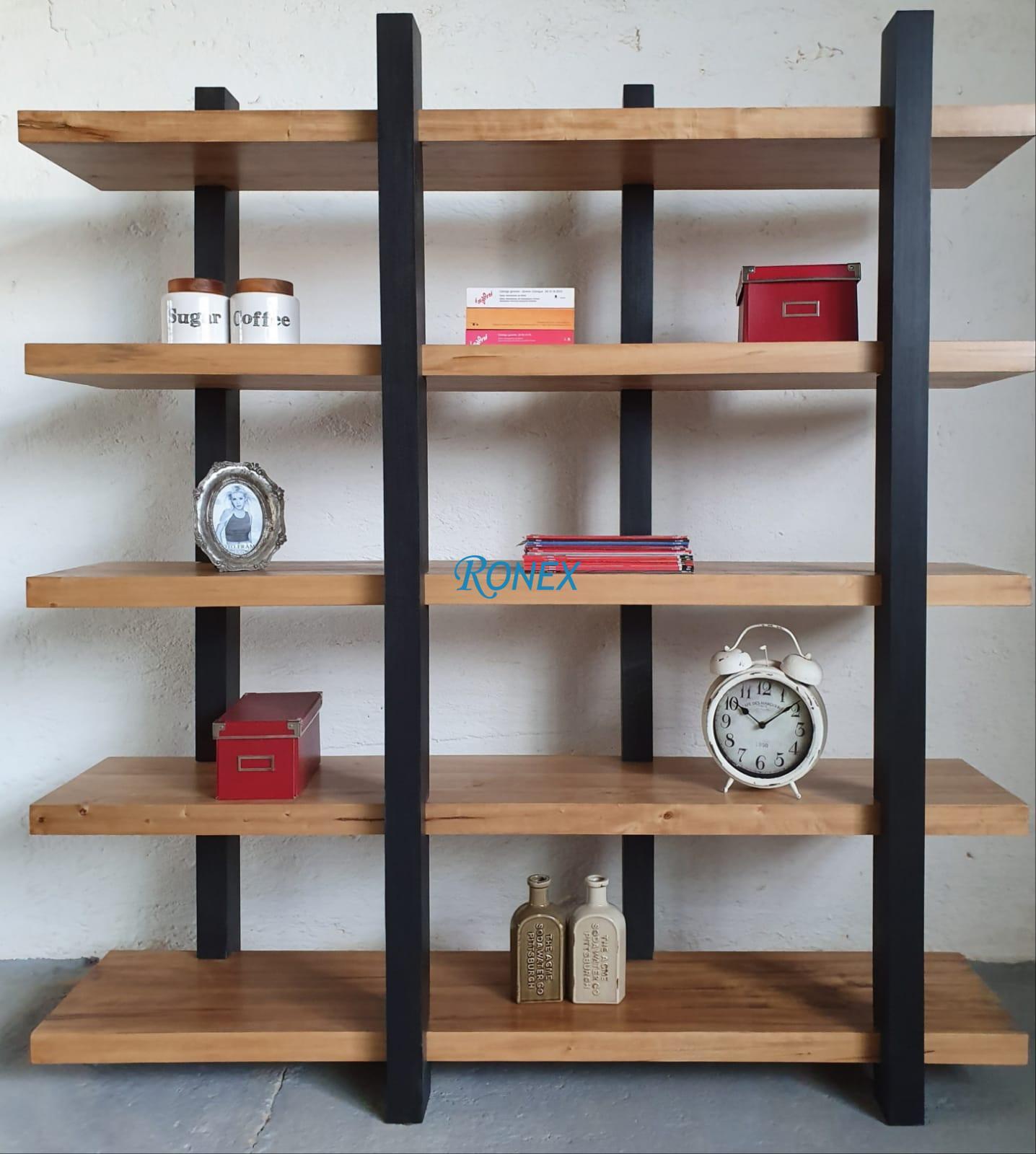 biblioteca OSLO lemn masiv