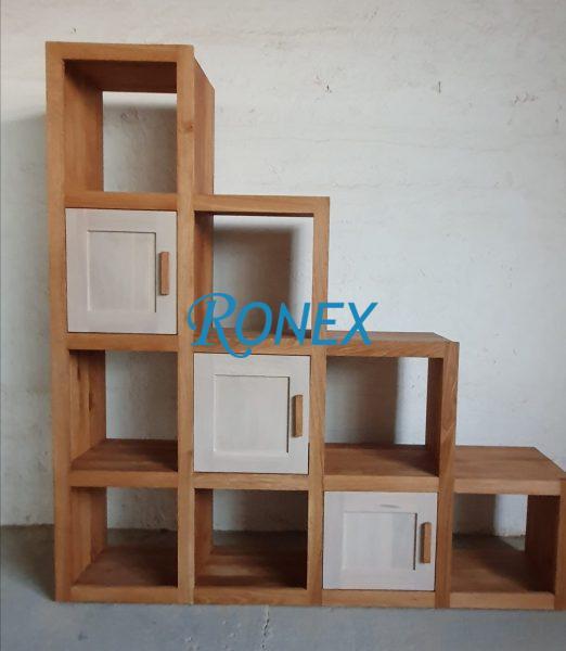 Bibliotecă SCALE lemn masiv de stejar