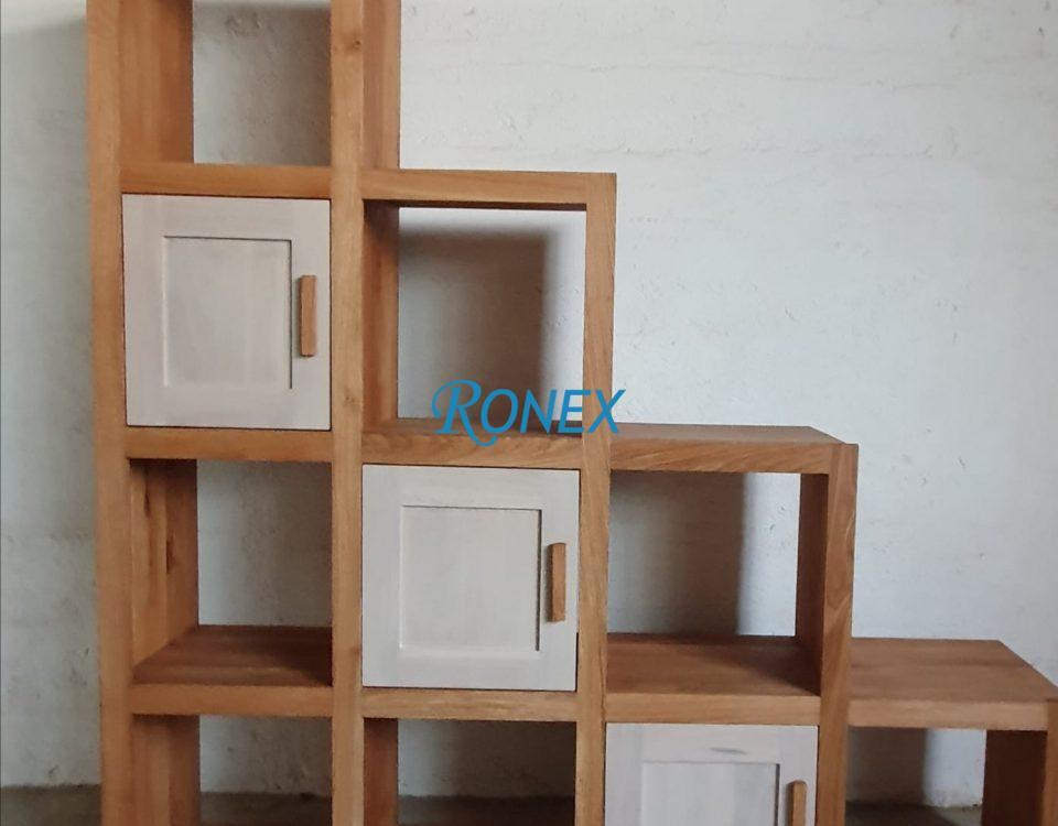 Biblioteca SCALE lemn masiv de stejar