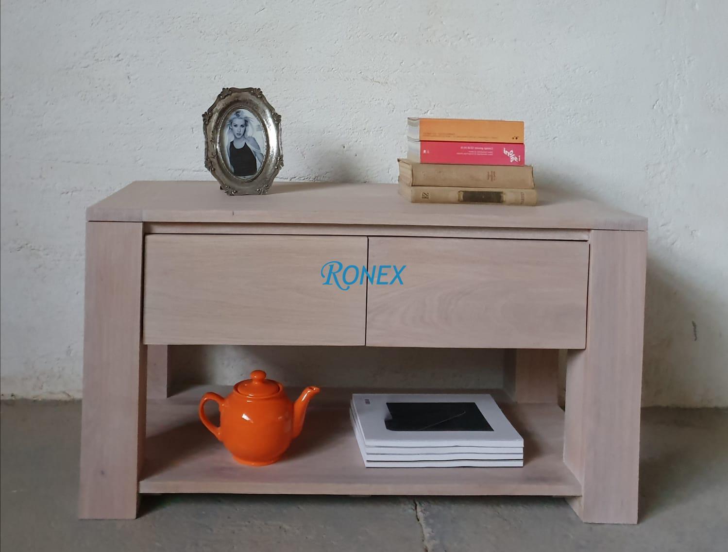 Măsuţa pentru cafea DUBLIN din lemn masiv, dimensiuni 100/50/50 cm