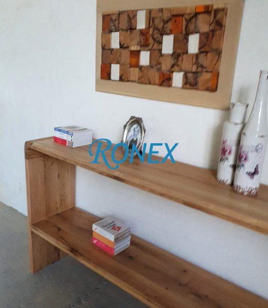 Consolă/Bar BALI Bright din lemn masiv de stejar